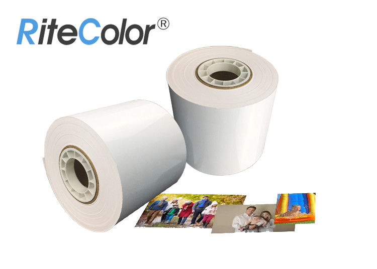 Glossy Inkjet Dry Minilab Photo Paper Roll 240gsm 6 Inches Luster For Fuji DX100